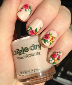 Cool Nail Designs and Easy Nail Designs 2016 for Floral Nail Art New Site Image With Flower Nail Art, you can see Floral Nail Art New Site Image With Flower Nail Art and more pictures for Nail Tips and Natural Nail Designs 18638 at Best Nail Designs. Rose Nail Design, Rose Nail Art, Flower Nail Designs, Floral Nail Art, Rose Nails, Pretty Nail Designs, Best Nail Art Designs, New Nail Art, Nail Designs Spring