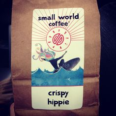 Small World Coffee - Crispy Hippie. Nice strong cup. Smooth and not too dark. I really liked this coffee.