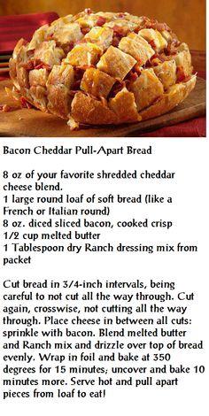 Bacon Cheddar Pull-Apart Bread
