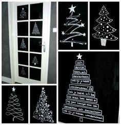 Simple thoughts ramen versieren dennenboom kerstboom krijtstift