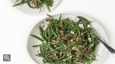 Green Bean, Red Rice and Almond Salad