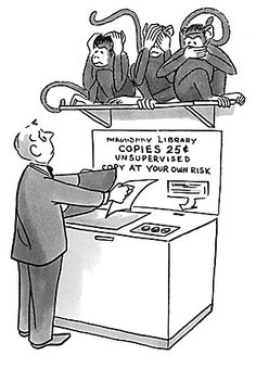 I wonder if this would be more effective than posting the copyright laws next to the copy machine?