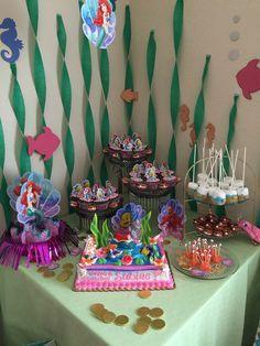 Little mermaid theme, kids birthday party