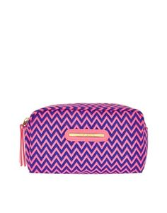 Image 1 of River Island Zig Zag Print Makeup Bag