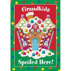 Grandkids Christmas Garden Flag
