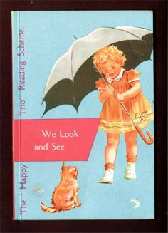 One of the earlier first grade primers used from the 1930s to the 1960s to teach beginning reading. There were 3 books in the set. This was the first book and was issued in 946.   Titied: We Look and See.