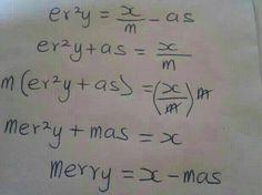 Merry Xmass Mathematical Equation & All Funny Christmass Pix Here. - Jokes Etc - Nigeria