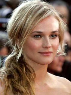 Diane Kruger messy pony vs classic face