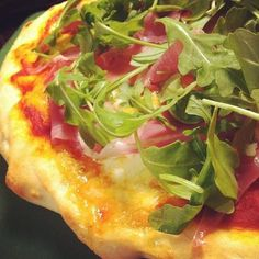 """""""Why do I not make this more often? Homemade prosciutto arugula pizza made with fior di latte. #cdncheese #simplepleasures"""" - Karen Kwan"""