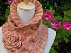 Ruffled and Ruched Scarf PDF Knitting Pattern