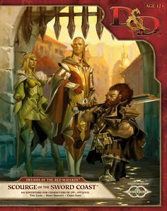 D&D 5.0 Dreams of the Red Wizards: Scourge of the Sword Coast Adventure Module | Book cover and interior art for Dungeons and Dragons Next (5.0) - Dungeons & Dragons, D&D, DND, 5.0, 5th Edition, Next, Roleplaying Game, Role Playing Game, RPG, Game System License, GSL, Open Game License, OGL, Wizards of the Coast, WotC | Create your own roleplaying game books w/ RPG Bard: www.rpgbard.com | Not Trusty Sword art: click artwork for source