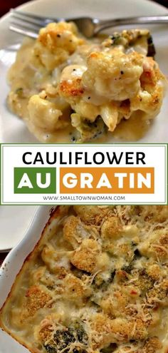 Cauliflower Au Gratin makes a great holiday side dish recipe perfect for a crowd! This delectable casserole comes together easily, quickly, and contains no canned soup. Save this creamy side dish recipe for your dinner parties! Dinner Side Dishes, Holiday Side Dishes, Side Dishes For Party, Vegetarian Recipes, Cooking Recipes, Healthy Recipes, Vegetarian Side Dishes, Budget Recipes, Cheese Recipes