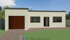 Unique Small House Plans, Beautiful House Plans, Simple House Plans, Flat Roof Design, Flat Roof House Designs, Small House Design, 2 Room House Plan, 2 Bedroom House Plans, Low Cost House Plans