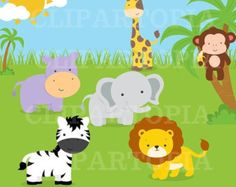 50% OFF SALE Mom and Baby Animal digital clipart / by ClipArtopia