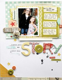 #Papercraft #Scrapbook #Layout.  Story by MelBlackburn at @studio_calico