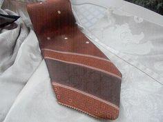 Vintage Wemlon Tie Shades of Brown Timeless Design | RosesHeirlooms - Accessories on ArtFire