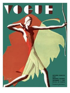⍌ Vintage Vogue ⍌ art and illustration for vogue magazine covers - September 1931 by Eduardo Garcia Benito