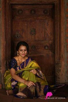 Kanchipuram Silk Sarees Shop in Chennai Bridal Sarees South Indian, South Silk Sarees, Bridal Silk Saree, Indian Silk Sarees, Indian Beauty Saree, Wedding Saree Blouse Designs, Half Saree Designs, Saree Blouse Neck Designs, Chennai