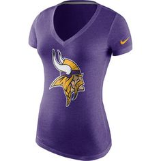 Majestic Minnesota Vikings Women's Purple Game Day V-Neck T-Shirt ...
