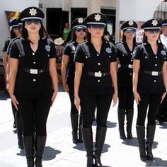 Complaints filed after female police officers in Mexico were forced to . Military Women, Military Police, Female Police Officers, Diana Gabaldon Outlander Series, Lovers Photos, Police Uniforms, Good Spirits, Living Dolls, Japanese Fashion