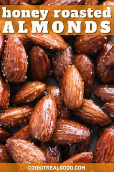 Cinnamon Roasted Almonds, Honey Almonds, Nut Recipes, Almond Recipes, Snack Recipes, Baking Recipes, Clean Eating Diet, Clean Eating Recipes