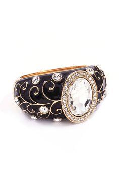 Rivierra Filigree Bracelet in Jet on Emma Stine Limited