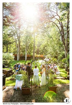 The beautiful wedding ceremony area at this Stonehedge Garden's Wedding
