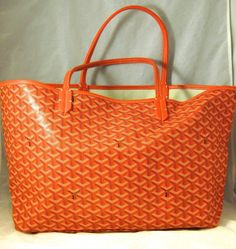 Halloween Special GOYARD ST. LOUIS TOTE GM ORANGE @Steve Mack