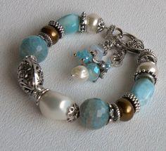 Sanibel Handmade Beaded Bracelet by bdzzledbeadedjewelry on Etsy, $34.00