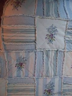 Sophia's Sundries (formerly Frugal Ideas from the Parsonage): Homemade Gift: Another Flannel Rag Quilt Throw