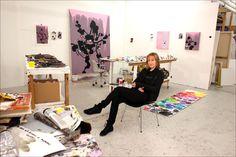 In The Studio: Fiona Rae, artist - Features - Art - The Independent Artist Life, Artist At Work, Fiona Rae, Art Essay, Painters Studio, My Art Studio, Studio Portraits, Creative Studio, Art Studios