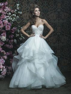 Allure Couture #C417. Available at It's Your Day Bridal Boutique. 1661 Front Road, LaSalle, Ontario 519-978-5003