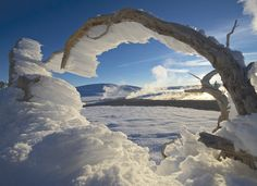 Steve Fuller, a caretaker at Yellowstone National Park, captures beauty during the isolated winter months