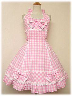 Square Halterneckneck JSK Release Year: 2007 Price: $165.08 Cute Girl Dresses, Pretty Dresses, Kids Outfits, Cool Outfits, Lolita Dress, Lolita Fashion, Custom Clothes, Baby Dress, Beautiful Outfits