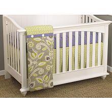 Cotton Tale Periwinkle 3 Piece Crib Bedding Set