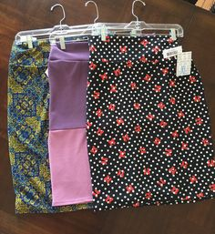Clothing, Shoes & Accessories Bnwt Lularoe Lola X-large Below Knee Skirt Pink Clear Flowers Cover Htf Xl Profit Small Women's Clothing