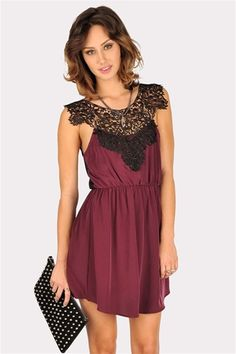 Lace Skin Dress - Plum. I think I like this?? Plus it's 23 bux