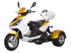 """TRI008 50cc Trike Automatic Transmission, Air Cooled, Differential Mechanism, Front Disc/Rear Disc Brakes, 12""""/8"""" Wheels, Big Trunk, Patented Trike $1400.00"""