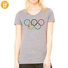 Olympic Olympischen Rings Doge Dog Meme Small Damen T-Shirt (*Partner-Link)