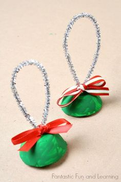 Egg Carton Bells Christmas Craft for Kids: HOW TO!