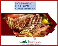 Obituary classifieds in The Hindu. Another equally popular Matrimonial ads in The Hindu is the most popular classified ad that people cling to it looking for suitable brides and bridegrooms for their children. Hindu India, Real Estate Ads, Newspaper Advertisement, Online Advertising, Advertising Agency, Indian Express, Perfect Bride, Right Time