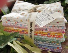 The fat quarter bundles are now cut & ready for YOU from the NEW fabric collection 'Grandma's Garden' designed by Darlene Zimmerman for Robert Kaufman Fabrics :)