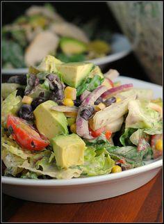 #LOWCARB - Chipotle Chicken Taco Salad + Weekly Menu
