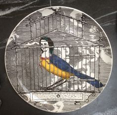 "1950's Fornasetti Harpy Plate ""Le Harpie, Gentile."" Numbered #3"