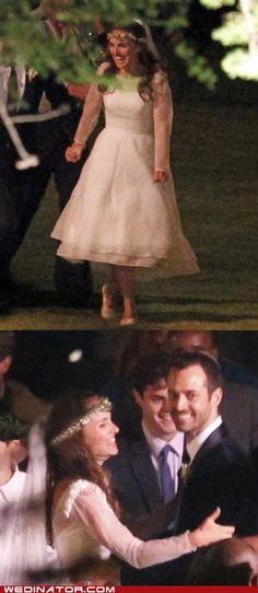 Natalie Portman's wedding dress.