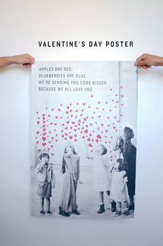 We decided to make Ben a poster for Valentine's Day. Our mothers loved the Mother's Day poster we sent, so I thought one for Ben would be a nice surprise for him. We plan to either sneak in his office