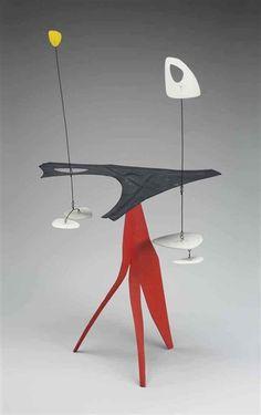 Alexander Calder, Black Palette, Red Spike, 1947