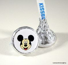 Mickey Mouse Cartoon Hershey Kiss Stickers by LabelsandStickers