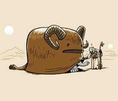 Star Wars. Bantha. Sand people.