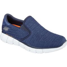 NEW SKECHERS Men Casual Comfort Moc Toe Sneakers Memory Foam ELMENT VERTON Navy